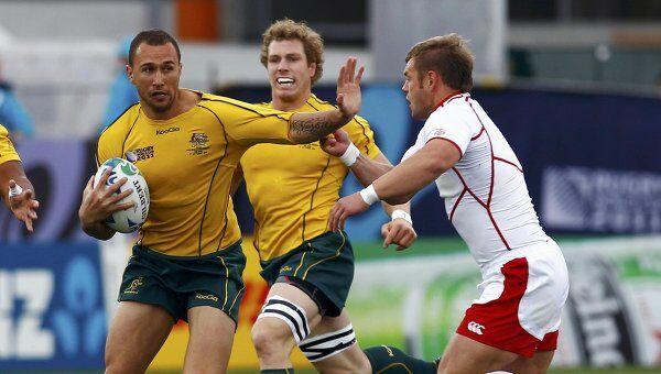 Игровой момент матча Австралия - Россия