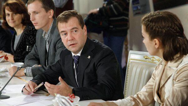 Встреча Д.Медведева с лауреатами конкурса Учитель года России -2011