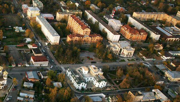 Вид центральной части Звенигорода. Архивное фото