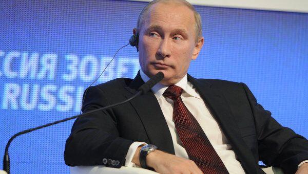 Премьер Владимир Путин уверен, что российская экономика продолжит расти даже в условиях мирового экономического кризиса