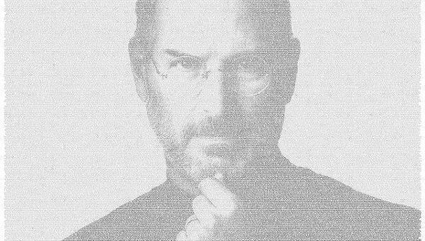 Twitter создал портрет Джобса из постов пользователей