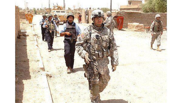 Иракская полиция и американские военные