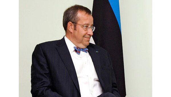 Президент Эстонии Томас Хендрик Ильвес. Архив