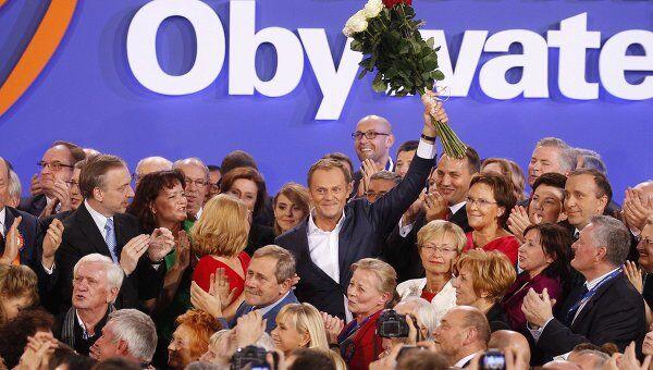 Партия премьера Туска выиграла парламентские выборы