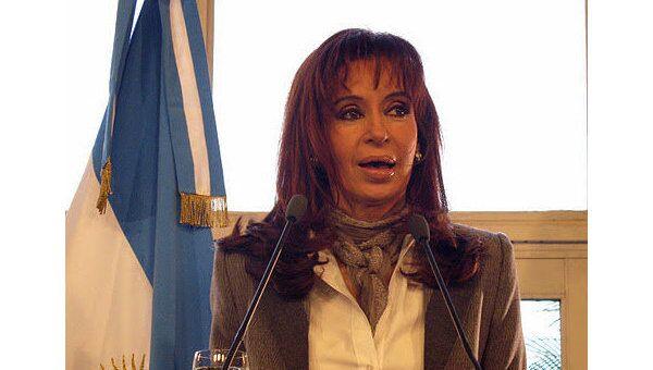 Президент Аргентины Кристина Киршнер. Архив
