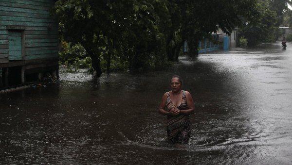 Последствия тропических ливней в Гватемале