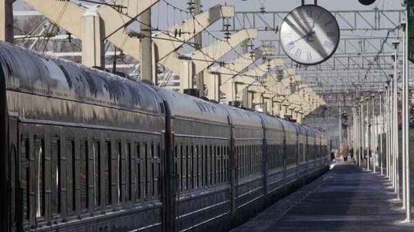 На перроне Ленинградского вокзал. Архивное фото