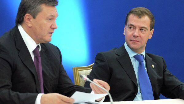 Президенты РФ и Украины Д.Медведев и В.Янукович приняли участие в российско-украинском экономическом форуме