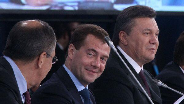 Д.Медведев и В.Янукович на межрегиональном экономическом форуме в Донецке