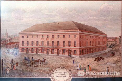 Большой (Петровский) театр в 1780 году