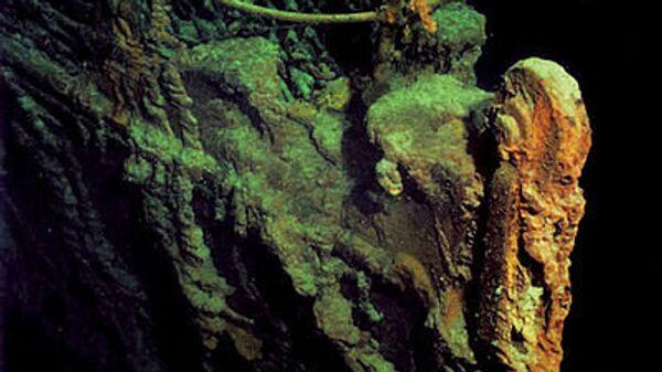 Корпус Титаника на дне Атлантики