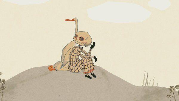 Кадр из мультфильма Утка, смерть и тюльпан. Режиссер Маттиас Брун