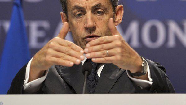 Президент Франции Николя Саркози на саммите G20