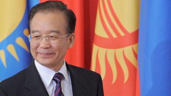 Премьер Госсовета КНР Вэнь Цзябао на заседании ШОС в Санкт-Петербурге