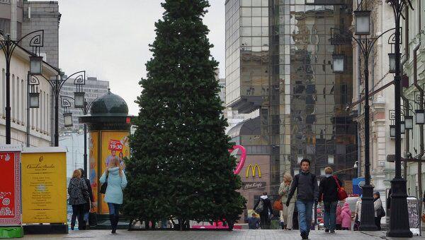 Новогодние елки появились на улицах Москвы