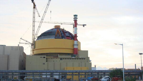 Строительство АЭС Куданкулам в Индии. Архивное фото