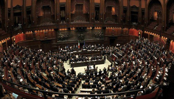 Заседание парламента Италии