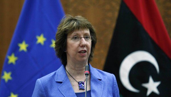 Глава дипломатии ЕС Кэтрин Эштон в Триполи