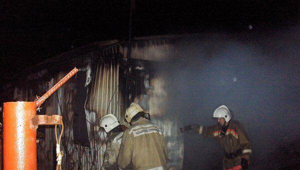 Пожар в городе Микунь в Коми