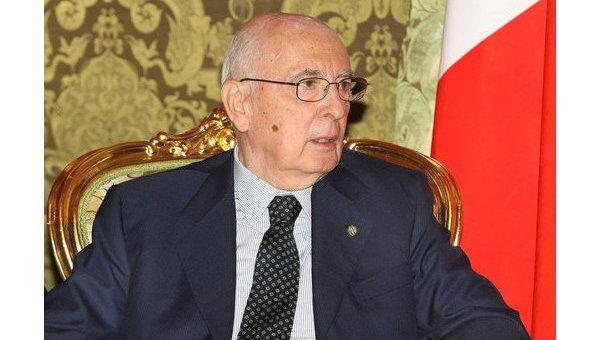 Президент Италии Джорджо Наполитано. Архив