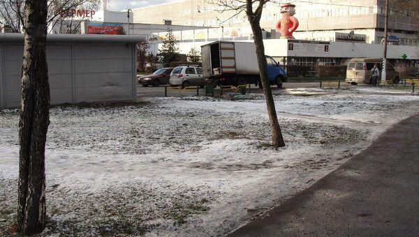 Московские улицы обработали реагентами
