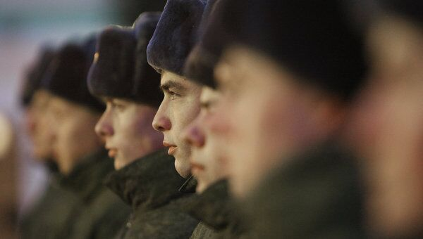 Отправка новобранцев на службу в Президентский полк