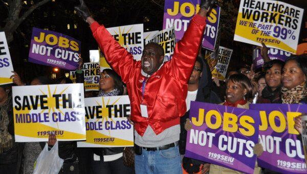 Акция протеста Захвати Уолл-стрит в Нью-Йорке