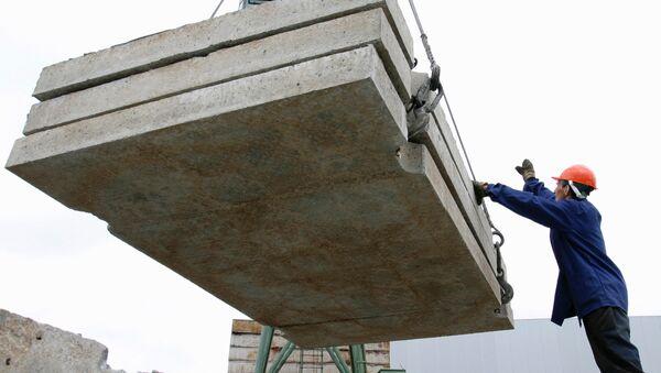 Работа строителей