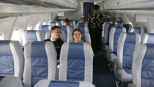 В салоне самолета АН-148