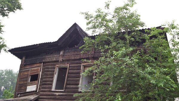 Сгоревший дом, архивное фото