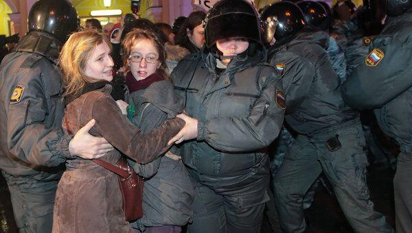 Задержание участников акции протеста в Санкт-Петербурге. Архив