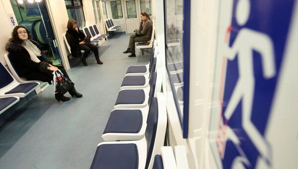 Презентация вагонов метро НеВа на предприятии Вагонмаш. Архивное фото