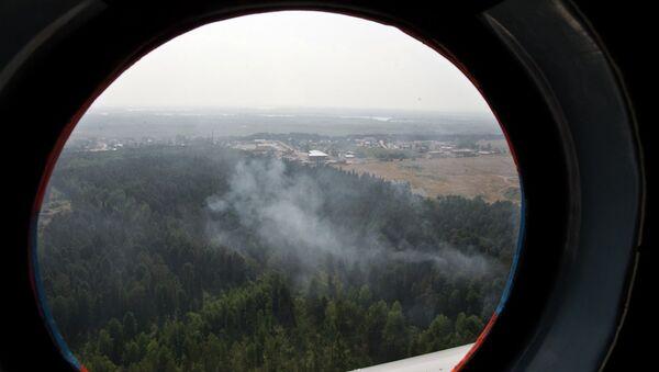 Пожары в лесах Томской области, архивное фото