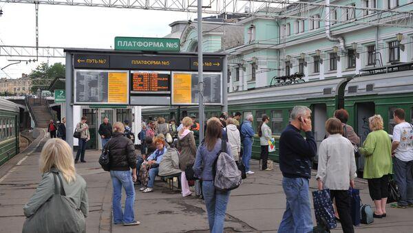 Белорусский вокзал в Москве, архивное фото