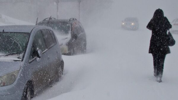 Снежный циклон на Сахалине. Архивное фото