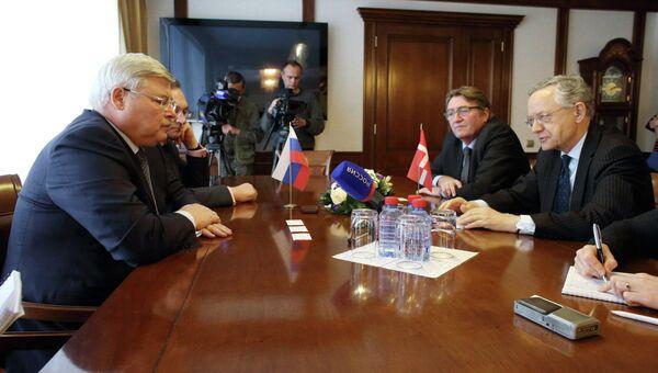 Посол Дании в РФ на встрече с губернатором Томской области Сергеем Жвачкиным