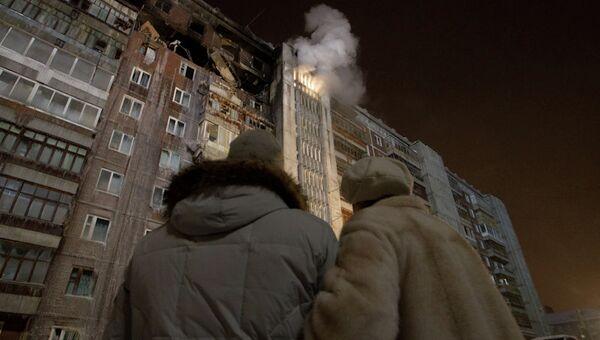 Дом на Сибирской после взрыва