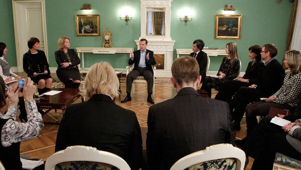 Встреча Д.Медведева с представителями региональных СМИ