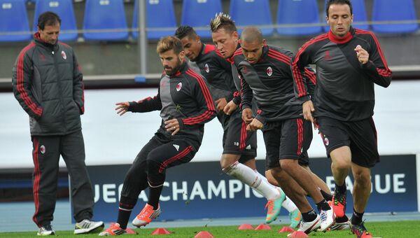 Футбол. Тренировка ФК Милан. Архивное фото