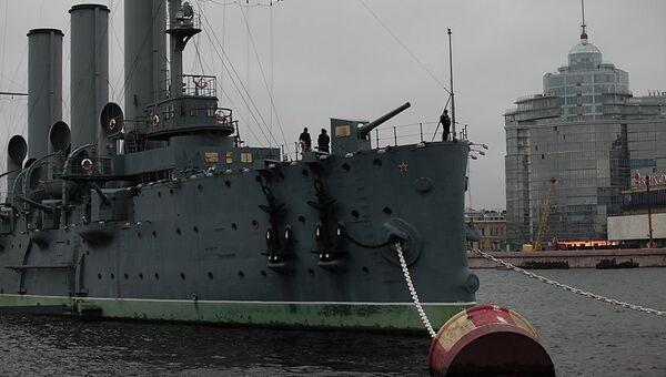 Крейсер Аврора. Архивное фото