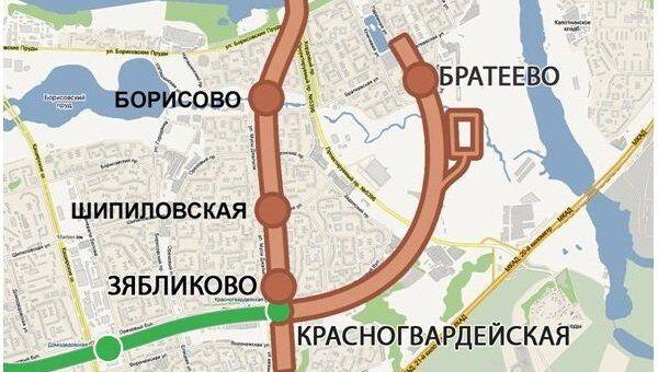 Схема открытия новых станций метрополитена
