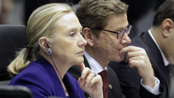 Госсекретарь США Хиллари Клинтон на заседании СМИД ОБСЕ в Вильнюсе