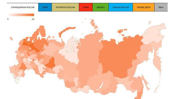 Предварительные итоги выборов в Госдуму РФ