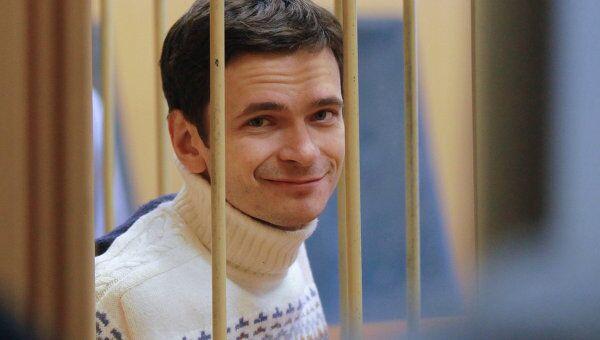 Рассмотрение жалобы на арест Ильи Яшина в Тверском суде