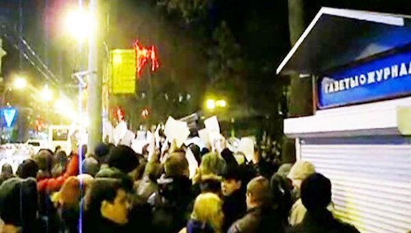 Акция против результатов выборов прошла в Ростове-на-Дону