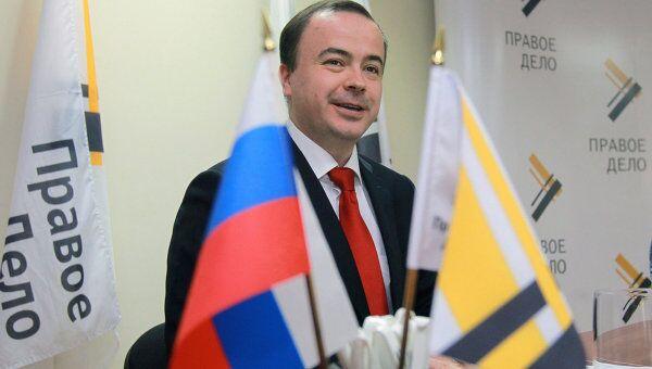 Исполняющий обязанности председателя партии Правое дело Андрей Дунаев. Архив