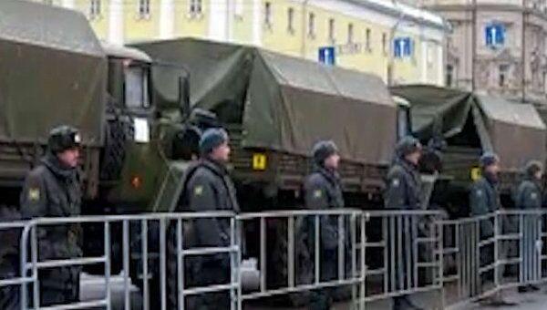 Манежная и площадь Революции в Москве оцеплены полицией