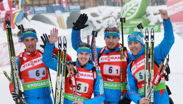 Дмитрий Малышко, Евгений Устюгов, Антон Шипулин, Андрей Маковеев (слева направо)