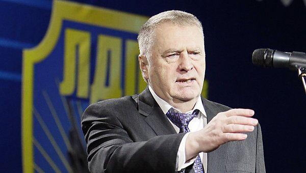 Лидер Либерально-демократической партии России Владимир Жириновский выступает на съезде ЛДПР