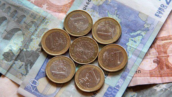 Монеты евро Франции, архивное фото